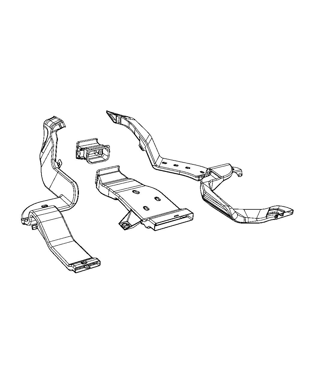 Ram Duct Floor Rear Left Ducts Conditioning Air