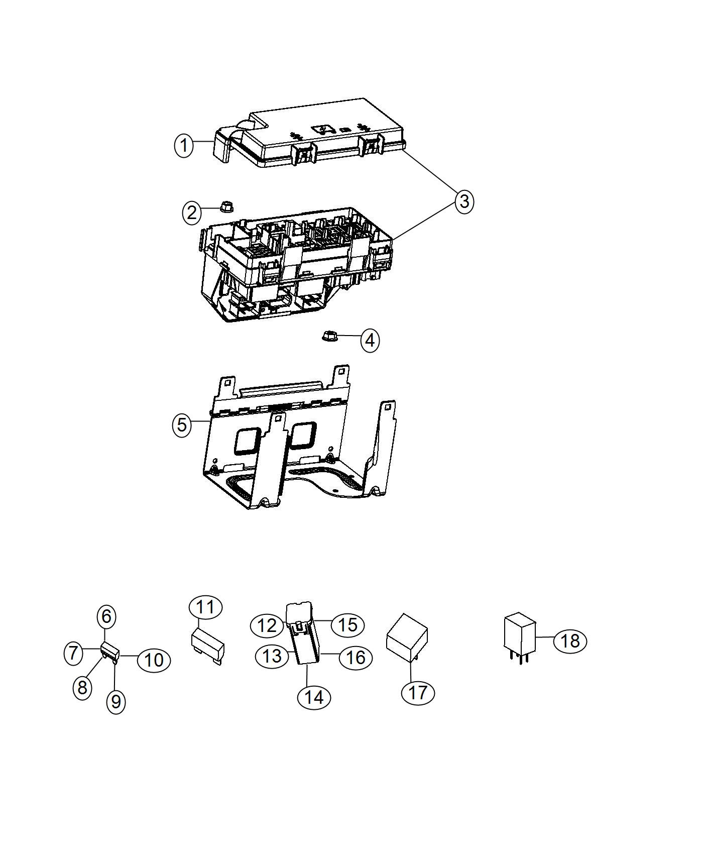 Dodge Grand Caravan Holder Fuse Includes 60 Amp J Case