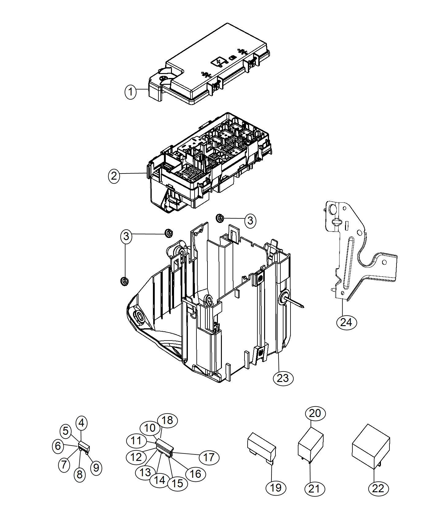 Jeep Grand Cherokee Fuse M Case Mini J Case 30 Amp