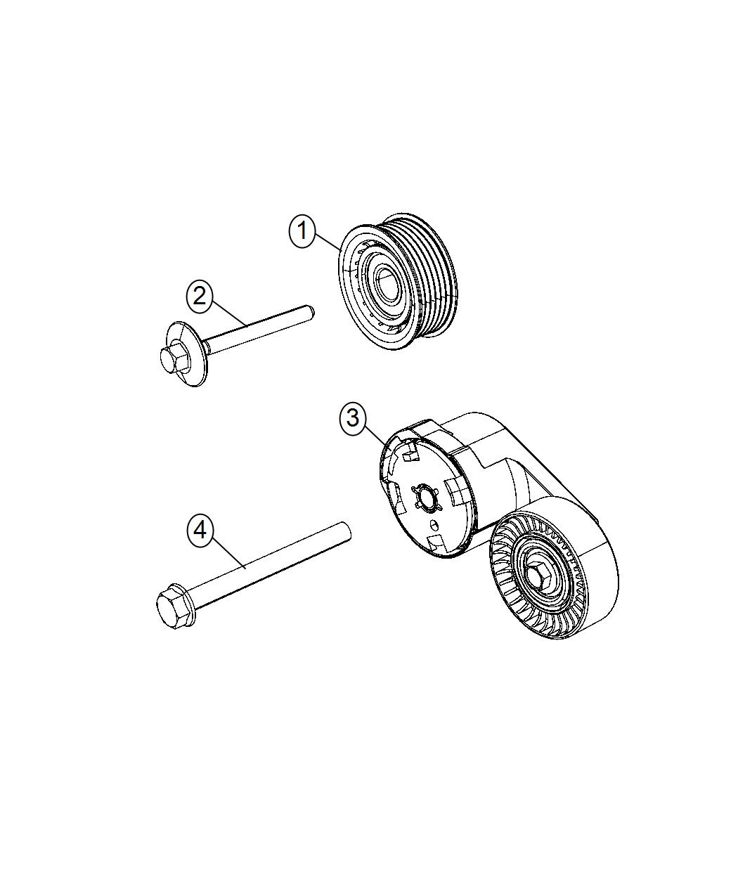 Jeep Grand Cherokee Tensioner Belt Related Pulleys