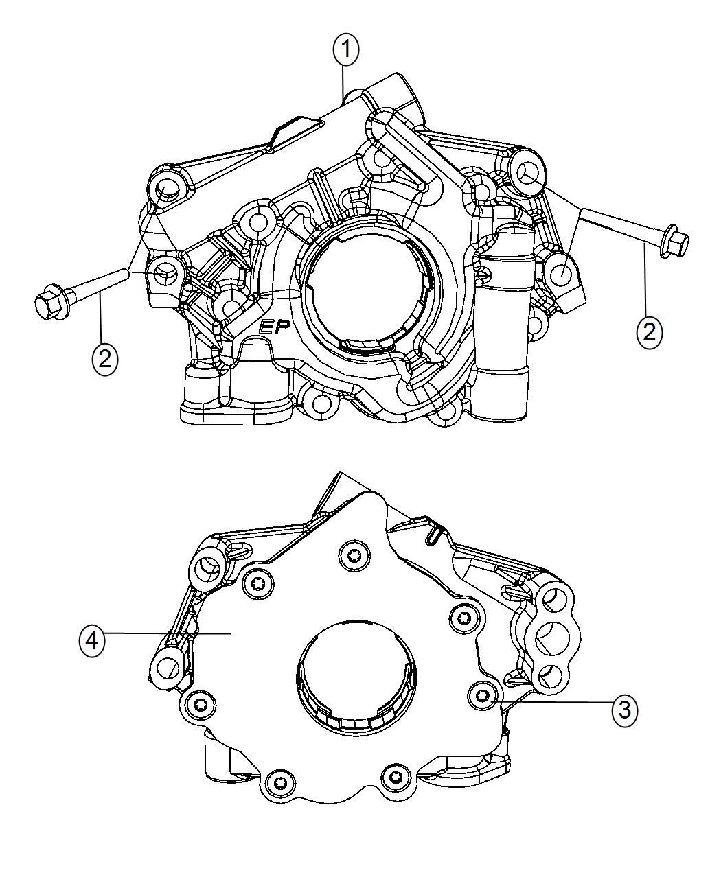 Jeep Grand Cherokee Pump Engine Oil Mds Oiling Hemi