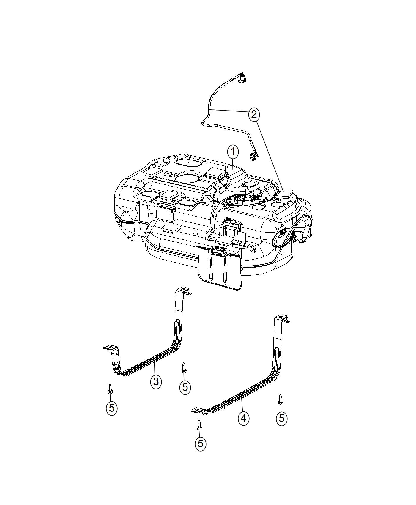 Chrysler Pacifica Strap Fuel Tank Right Vvt Engine