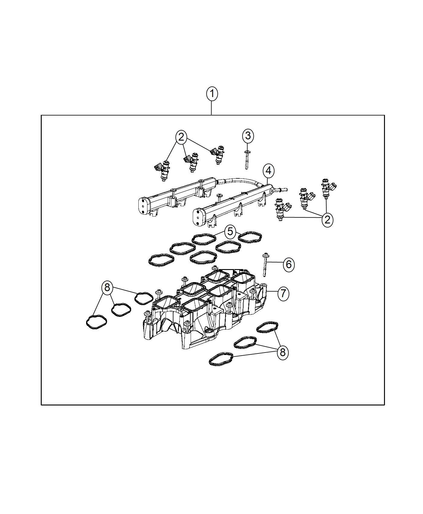 Jeep Grand Cherokee Injector Fuel Erc Manifold Lower