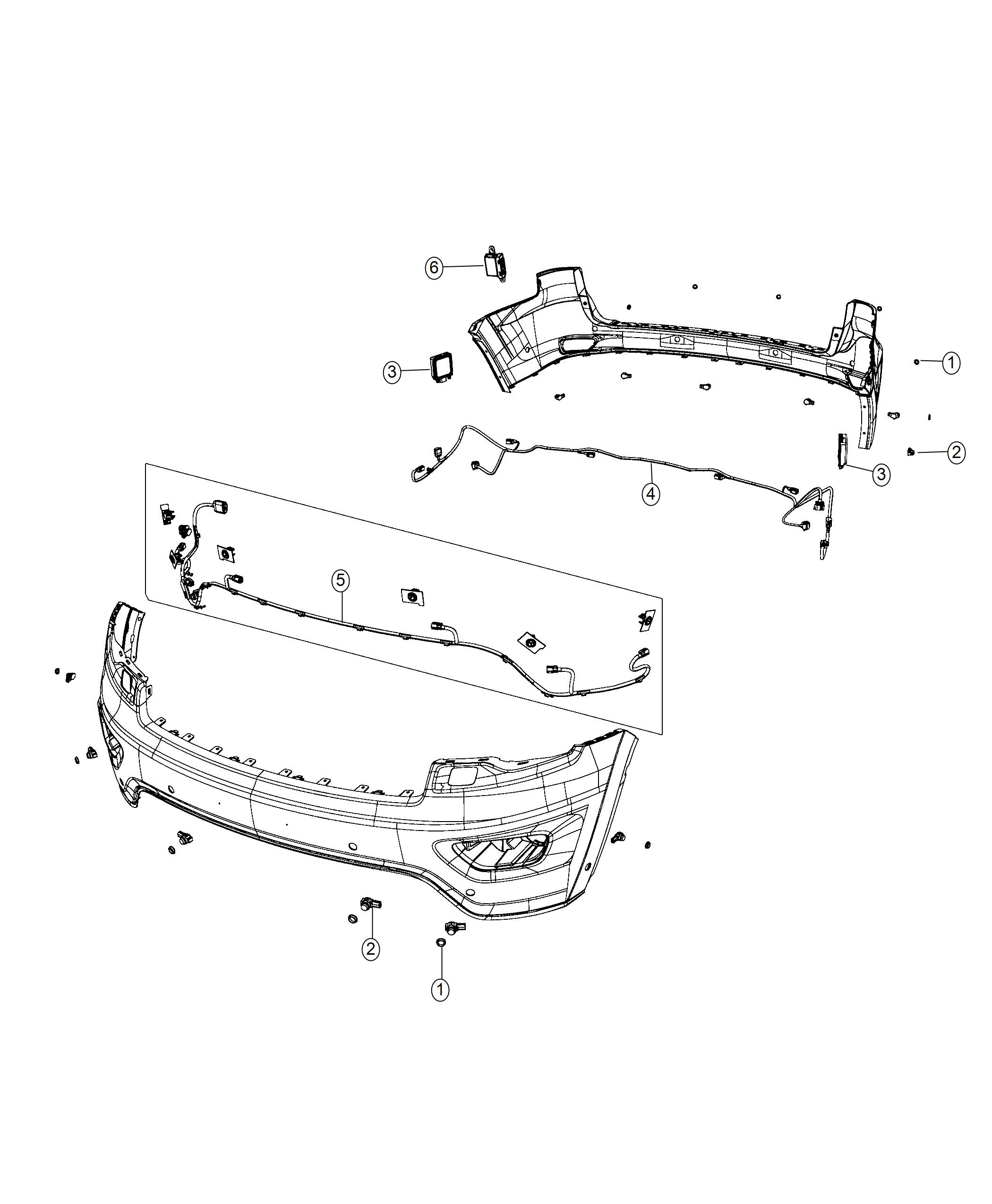 Jeep Grand Cherokee Wiring Rear Fascia Parallel And