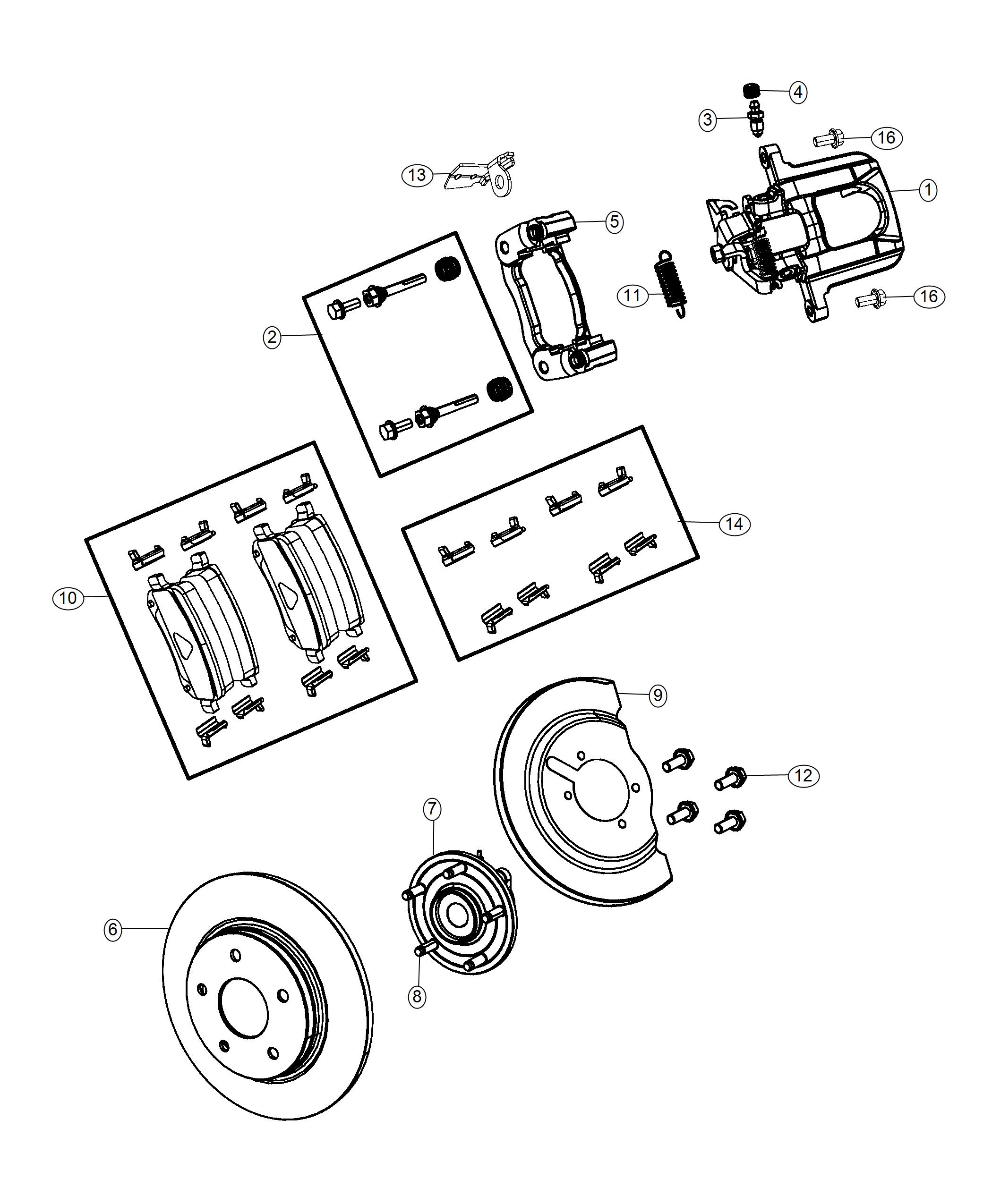 Dodge Grand Caravan Pin Kit Disc Brake Left Right