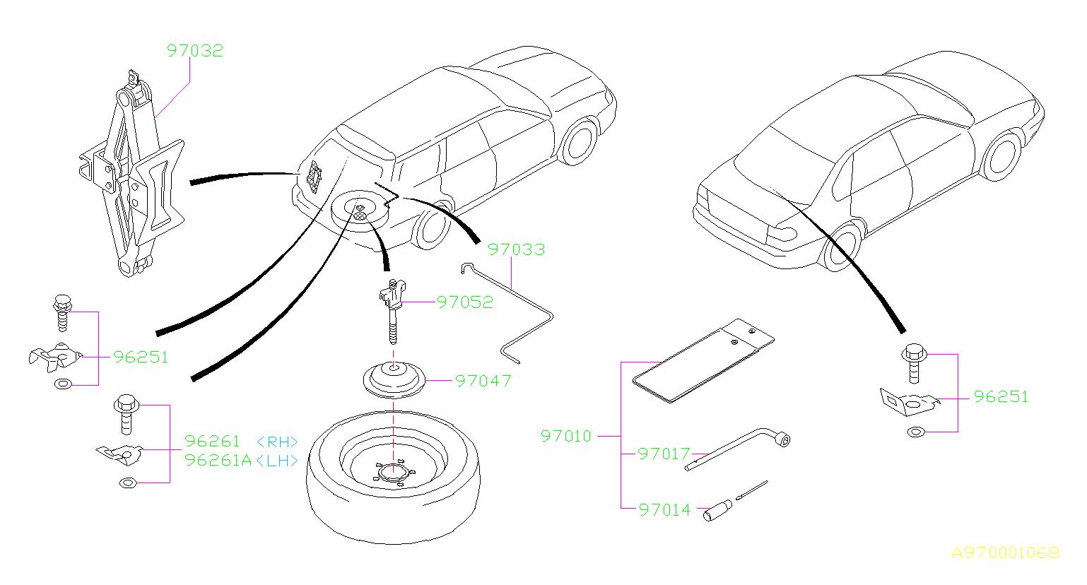 Subaru Legacy Wheel Lug Wrench Wrench Wheel Nut Jack
