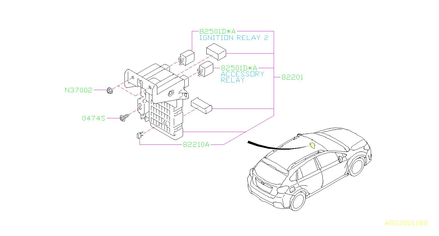 Subaru Crosstrek Relay Box Fuse Main