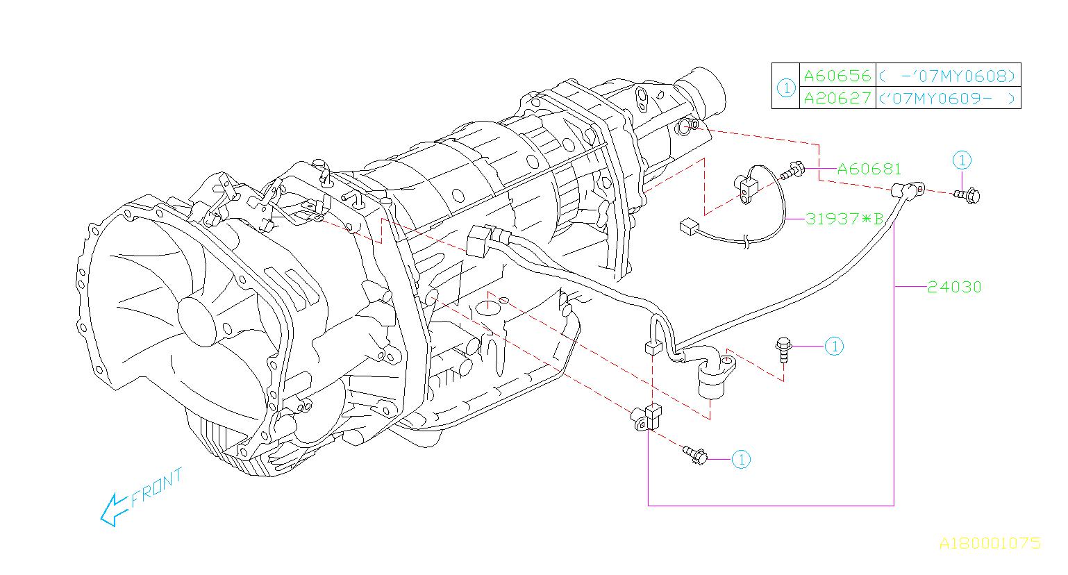 Subaru Tribeca Sensor And Harness Assembly Transmission