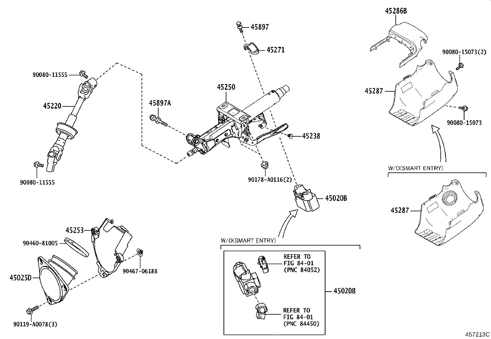 Toyota Camry Shaft Assembly Steering Intermediate Brakes