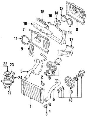 1998 Volkswagen Jetta Engine Cooling Fan Blade CYLINDER, WAC, LITER  1H0119113 | Faulkner