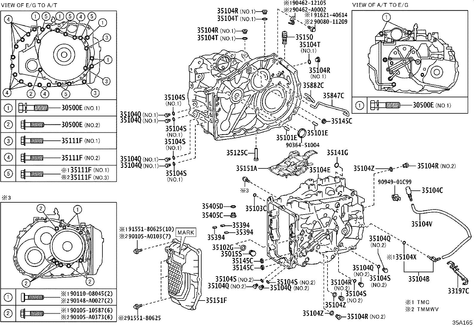 Toyota Avalon Tube Differential Gear Lube Apply