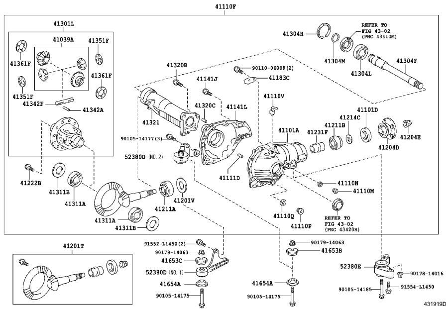 2013 Toyota Land Cruiser Differential Carrier (Front