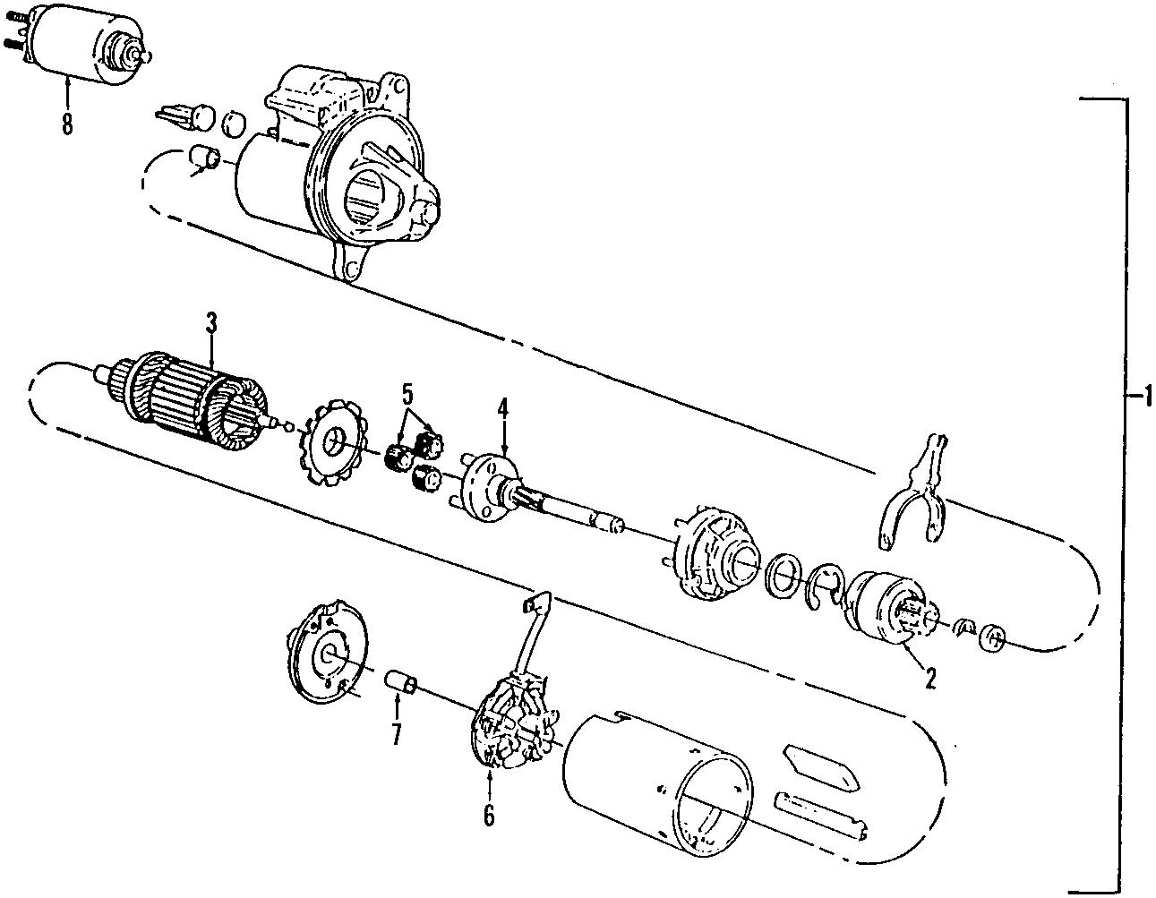 Mercury Sable Starter Motor Ohv