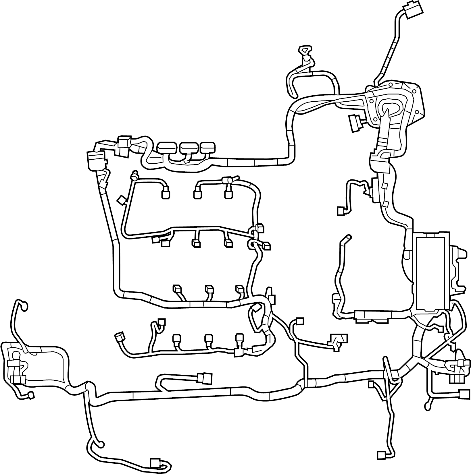Ford Police Interceptor Sedan Wire Harness Wiring
