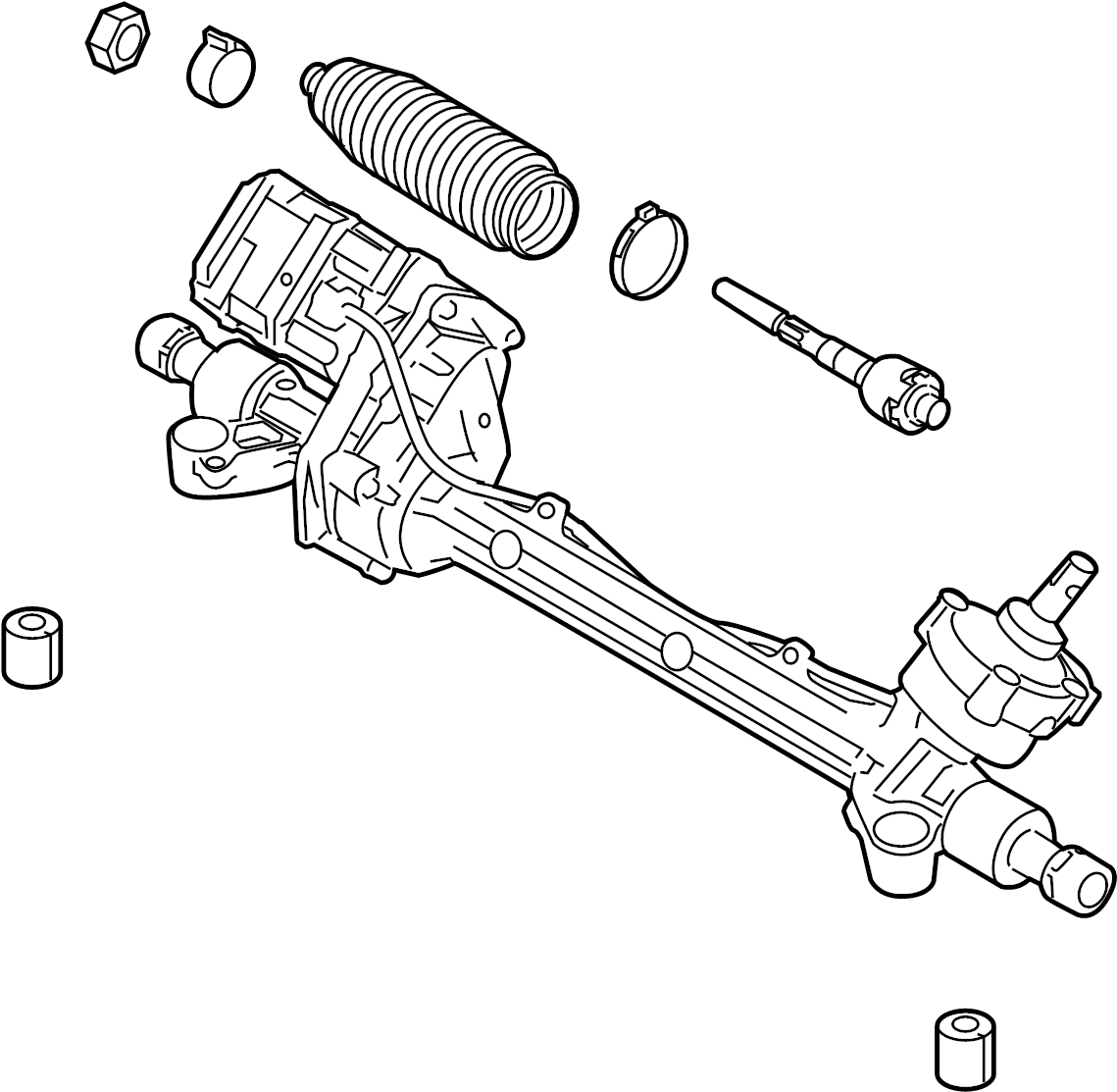 Lincoln Mkz Rack And Pinion Assembly Steering Hybrid