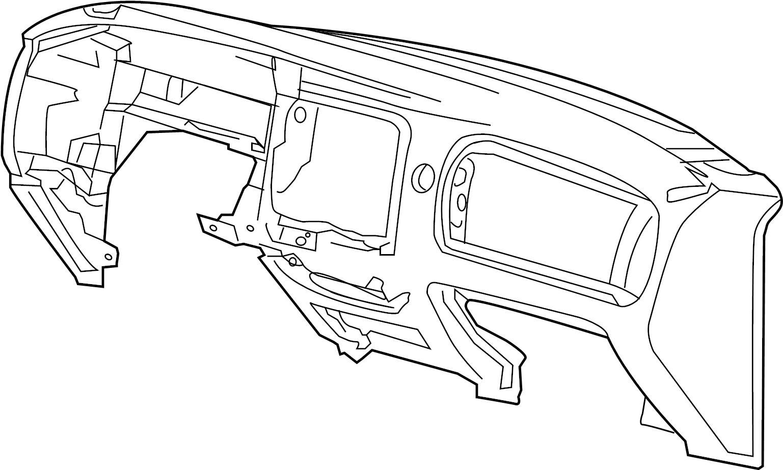 Ford Ranger Dashboard Panel Instrument Flint Make