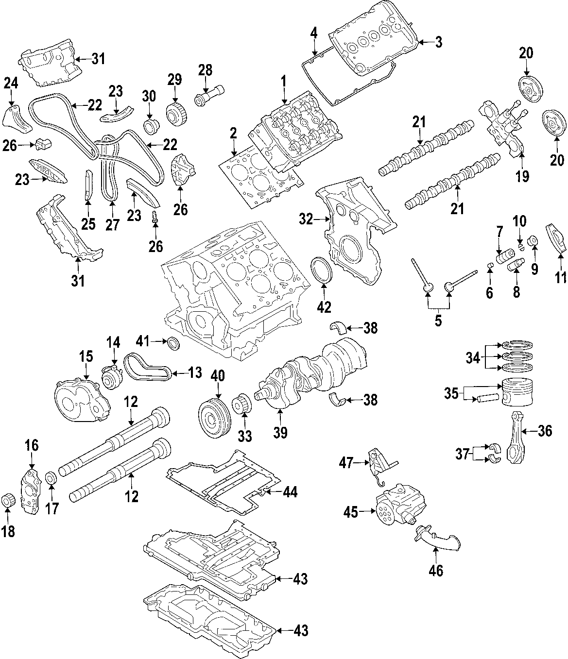 Volkswagen Cross Sport Engine Crankshaft Seal Liter