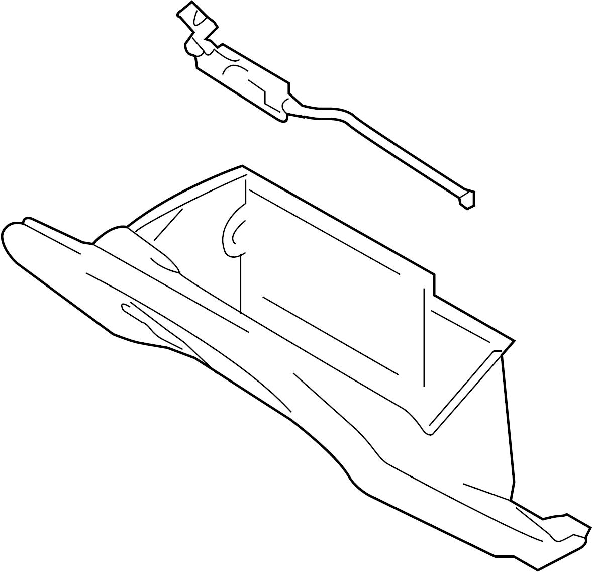 Infiniti G35 Glove Box Door Inst Pad Lid