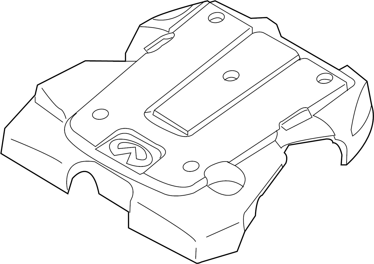 Infiniti M37 Engine Cover Exhaust Intake