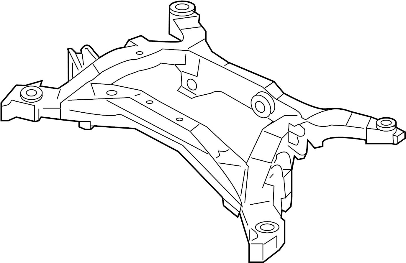 Infiniti G35 Suspension Subframe Crossmember Rear Link