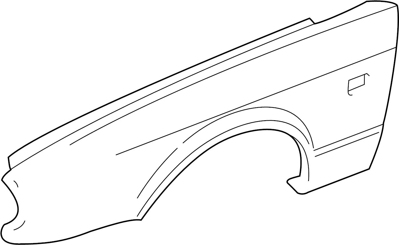 Jaguar Xj8 Fender Front Left Components Body Trim