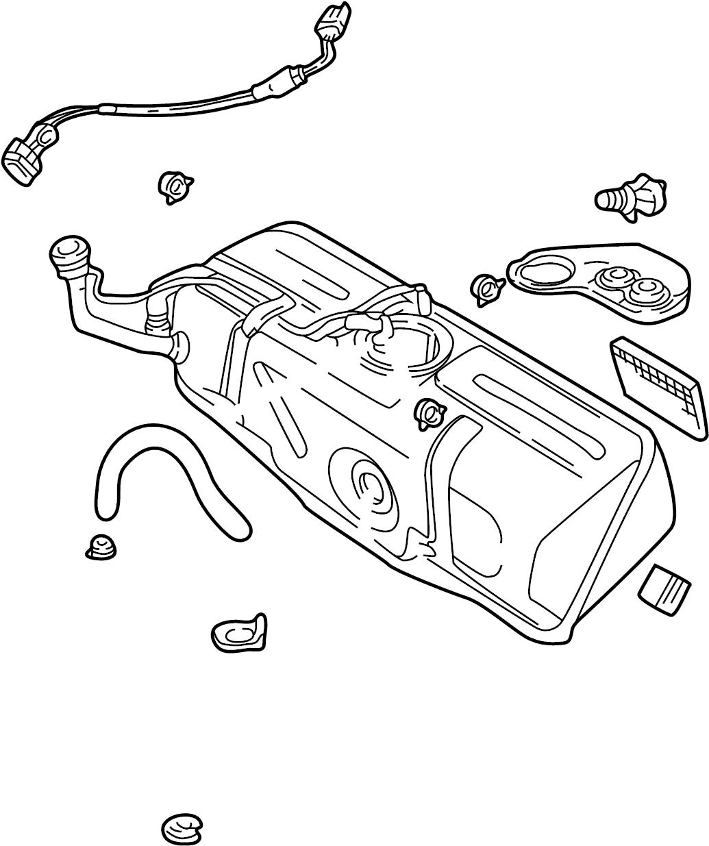 Jaguar Xj8 Fuel Tank Assembly Tank