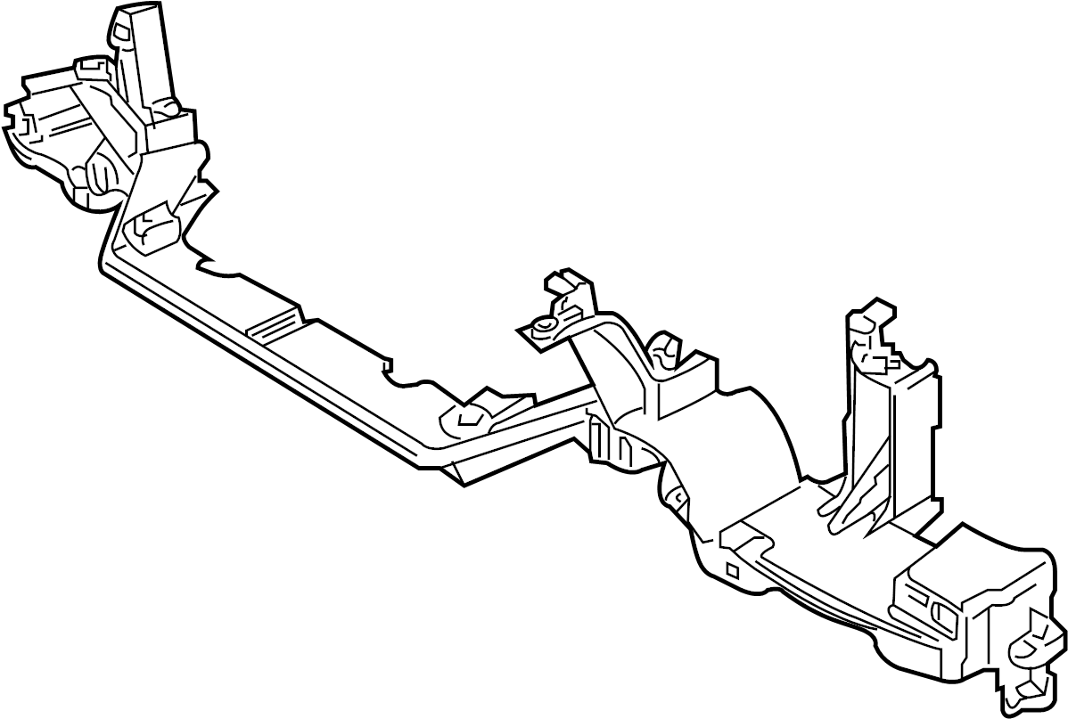 Jaguar Xj8 Lower Reinforced Radiator Support Panel