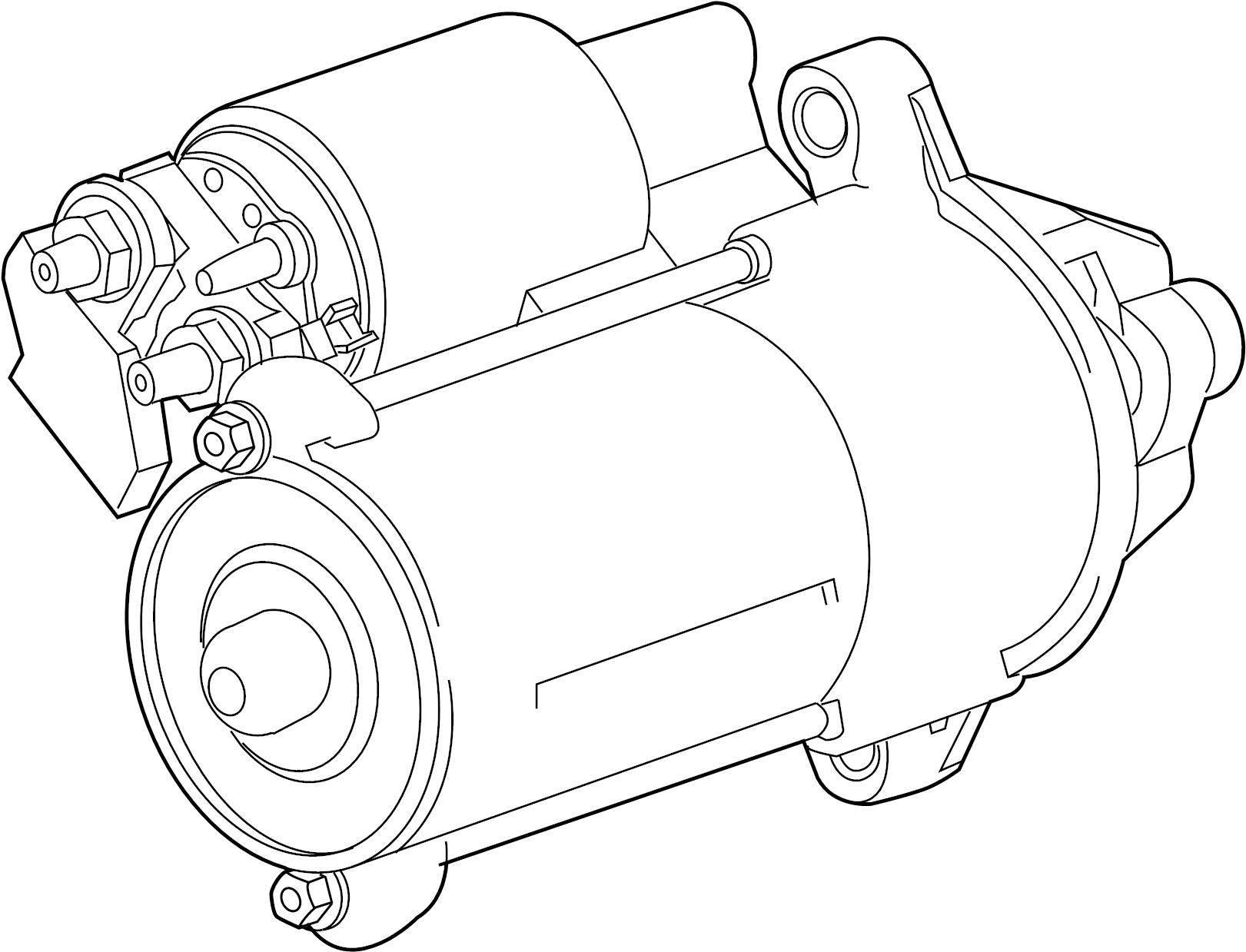 Jaguar Xf Starter Motor Liter Convertible Cylinder