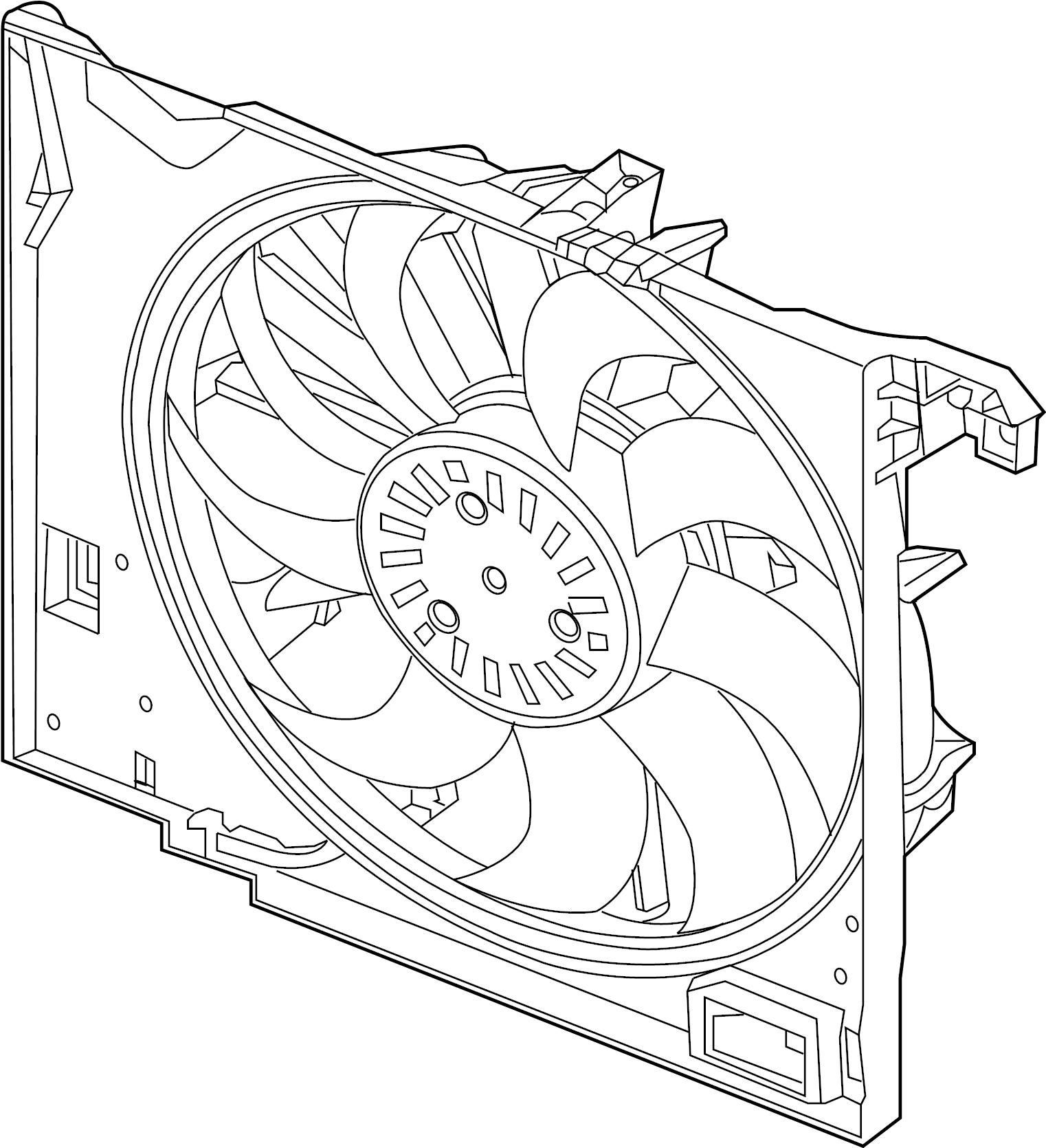 Jaguar Xj Engine Cooling Fan Assembly