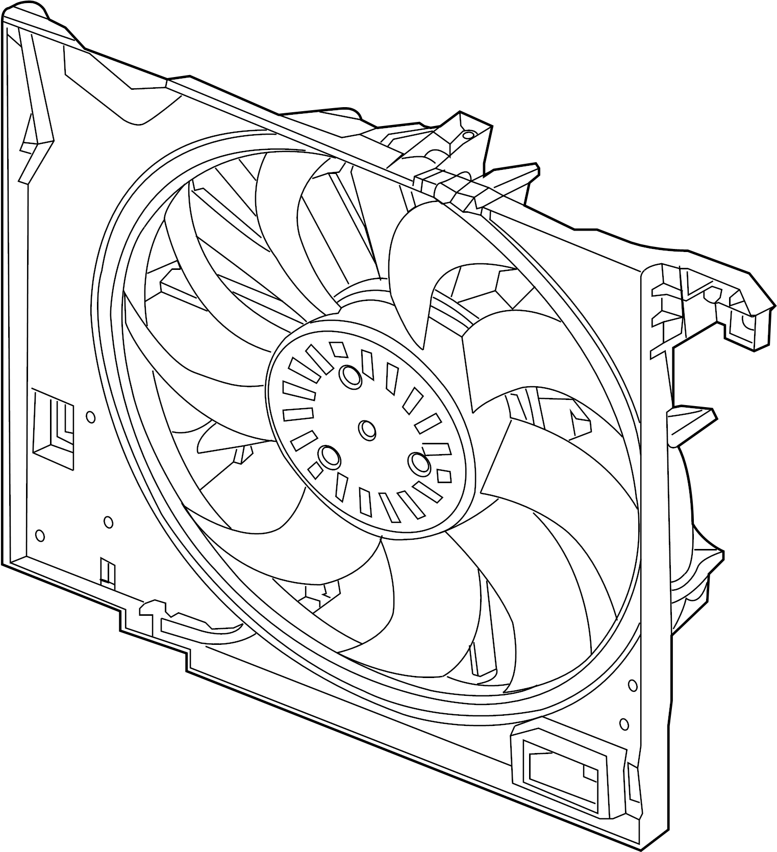 Jaguar Xkr Engine Cooling Fan Assembly