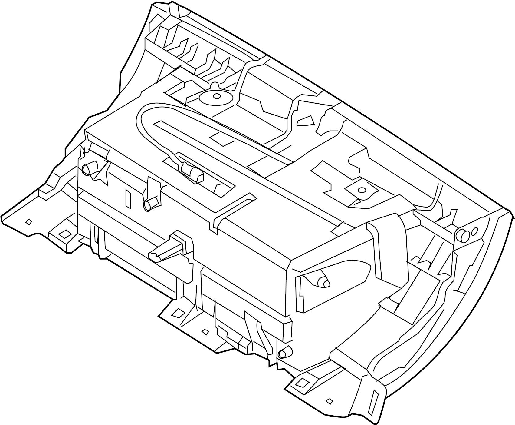 Jaguar Xjr Door Box Glove Bin Compartment Storage