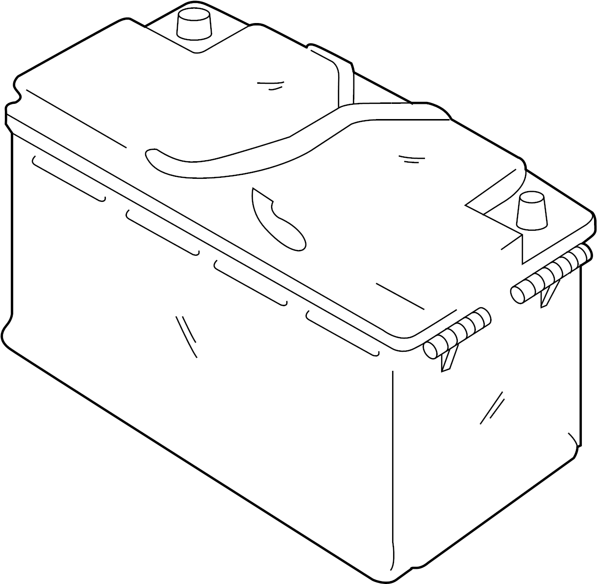 Jaguar S Type Battery Part Located On The Spare Wheel Well Power Source