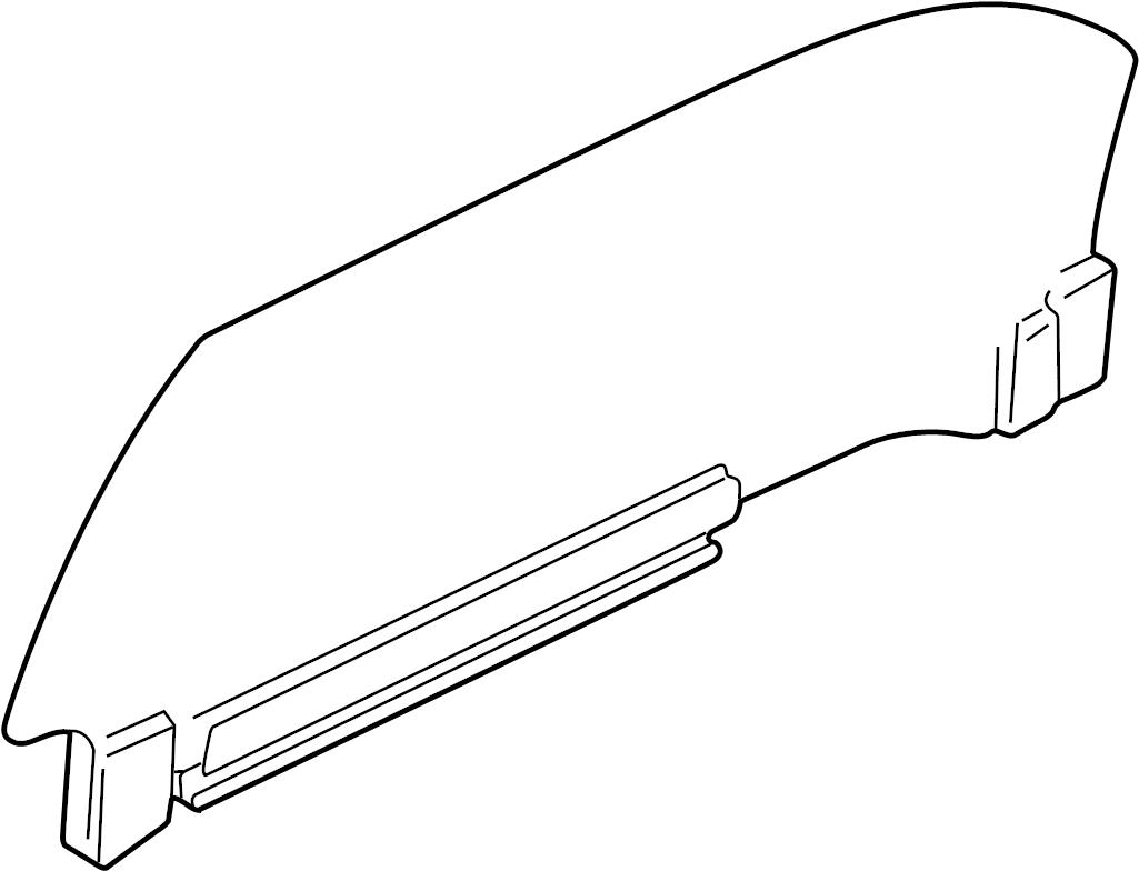 Jaguar Xkr Regulator Glass And Carrier