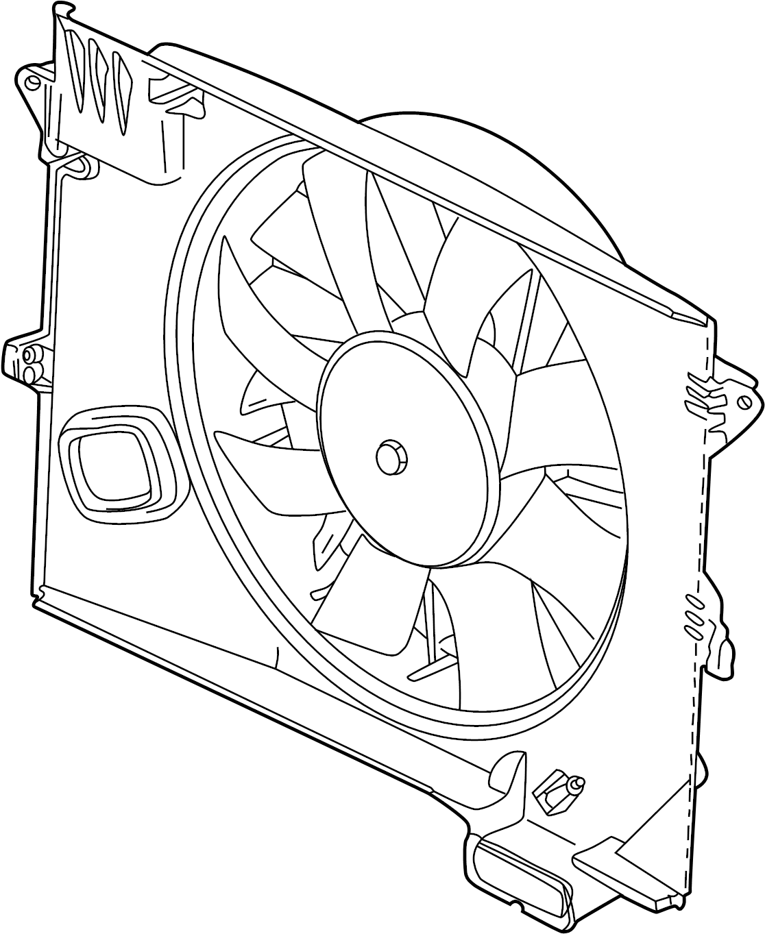 Jaguar Xkr Engine Cooling Fan Assembly