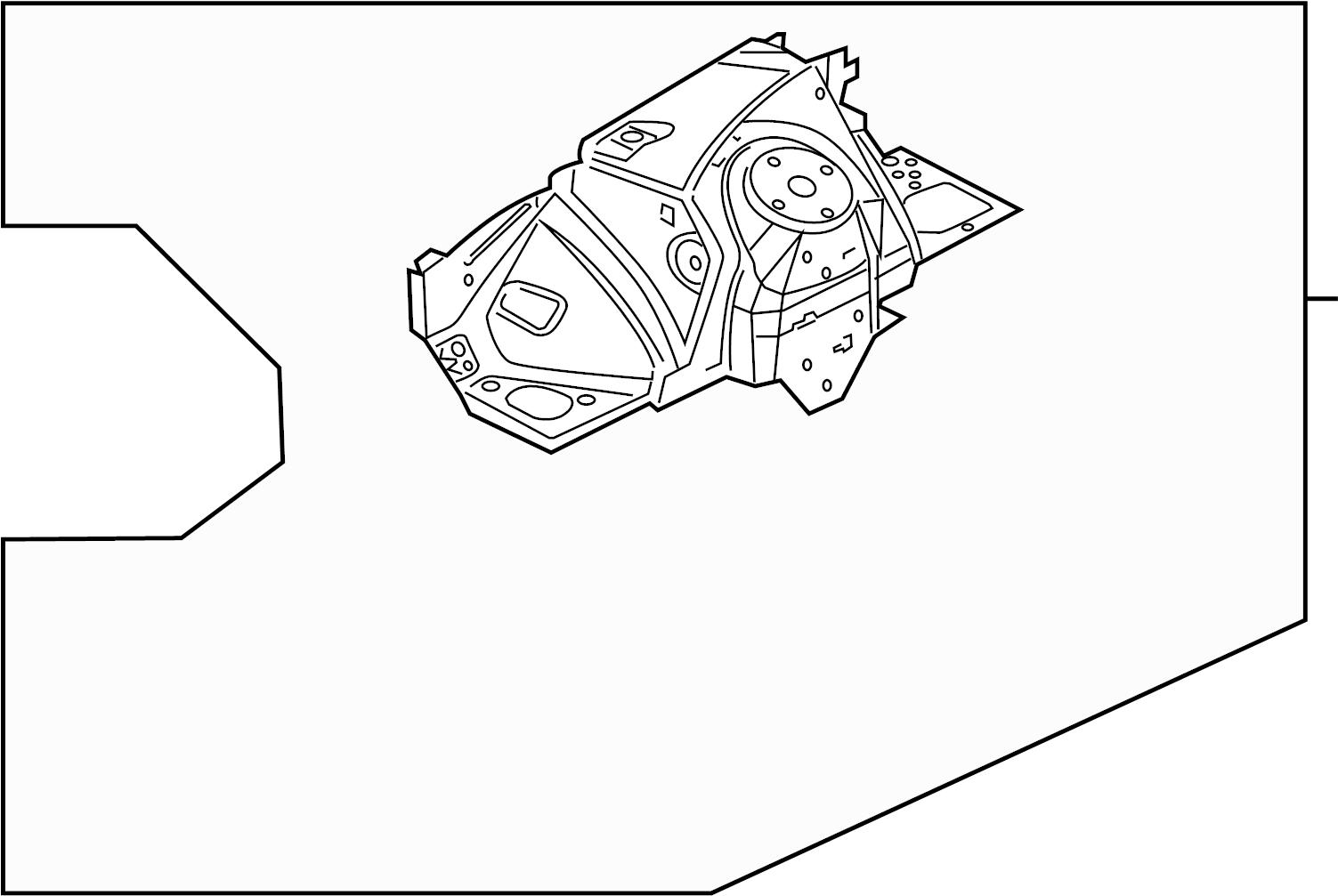 Jaguar Xfr S Apron Rail Assembly Fender Apron Assembly Panel