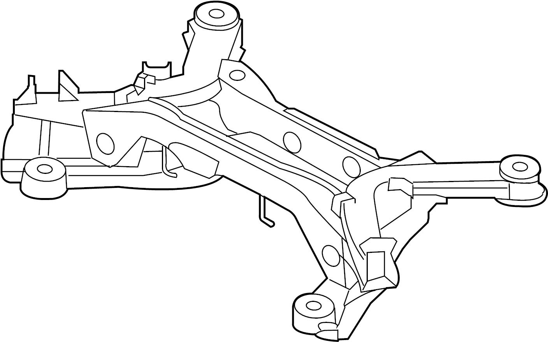 Jaguar Xfr S Suspension Subframe Crossmember Suspension