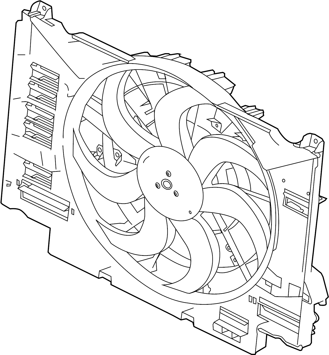 Jaguar Xf Engine Cooling Fan Assembly
