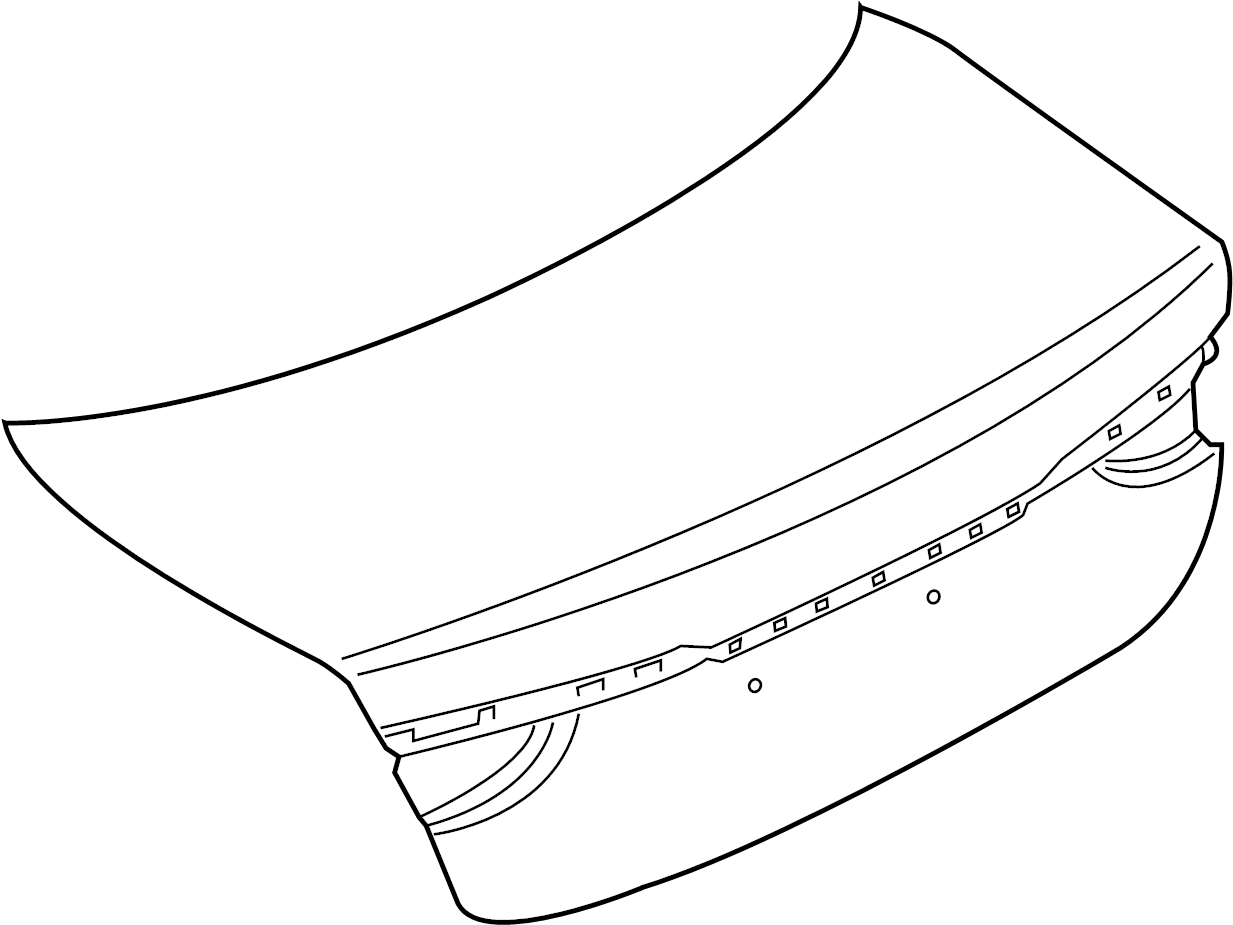 Jaguar Xf Deck Lid Deck Lid Panel