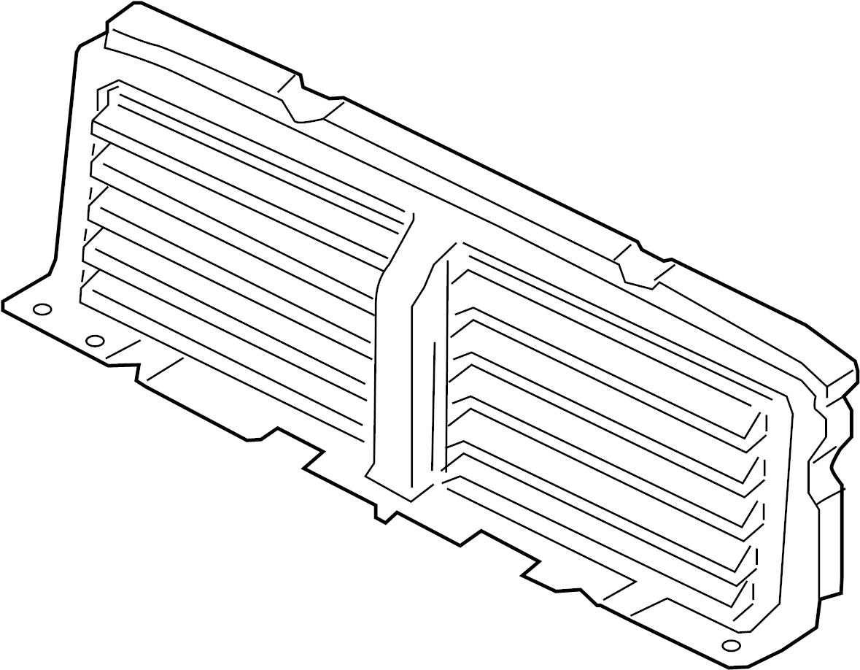 Jaguar Xf Radiator Shutter Assembly Components Liter