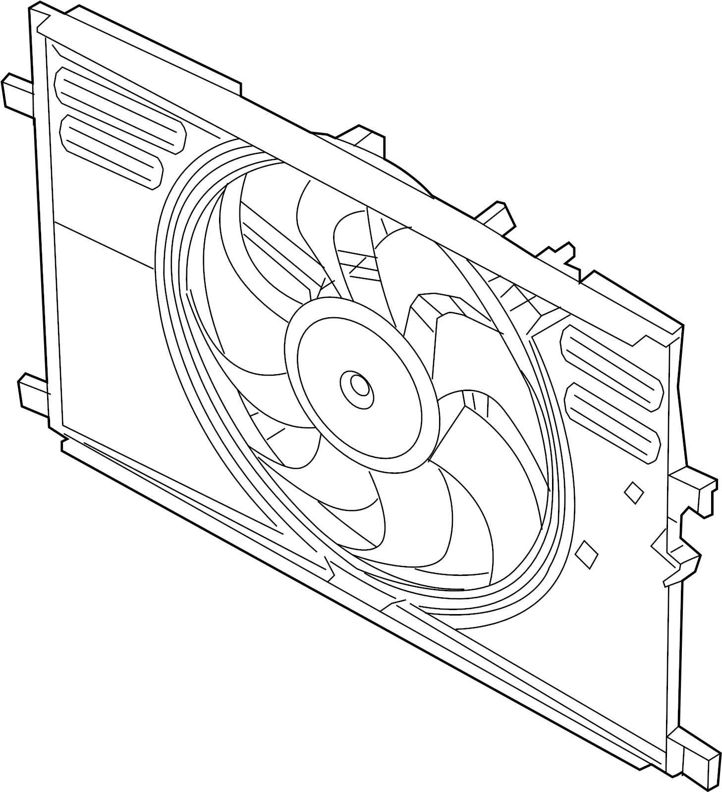 Jaguar F Pace Engine Cooling Fan Assembly 2 0 Liter Gas
