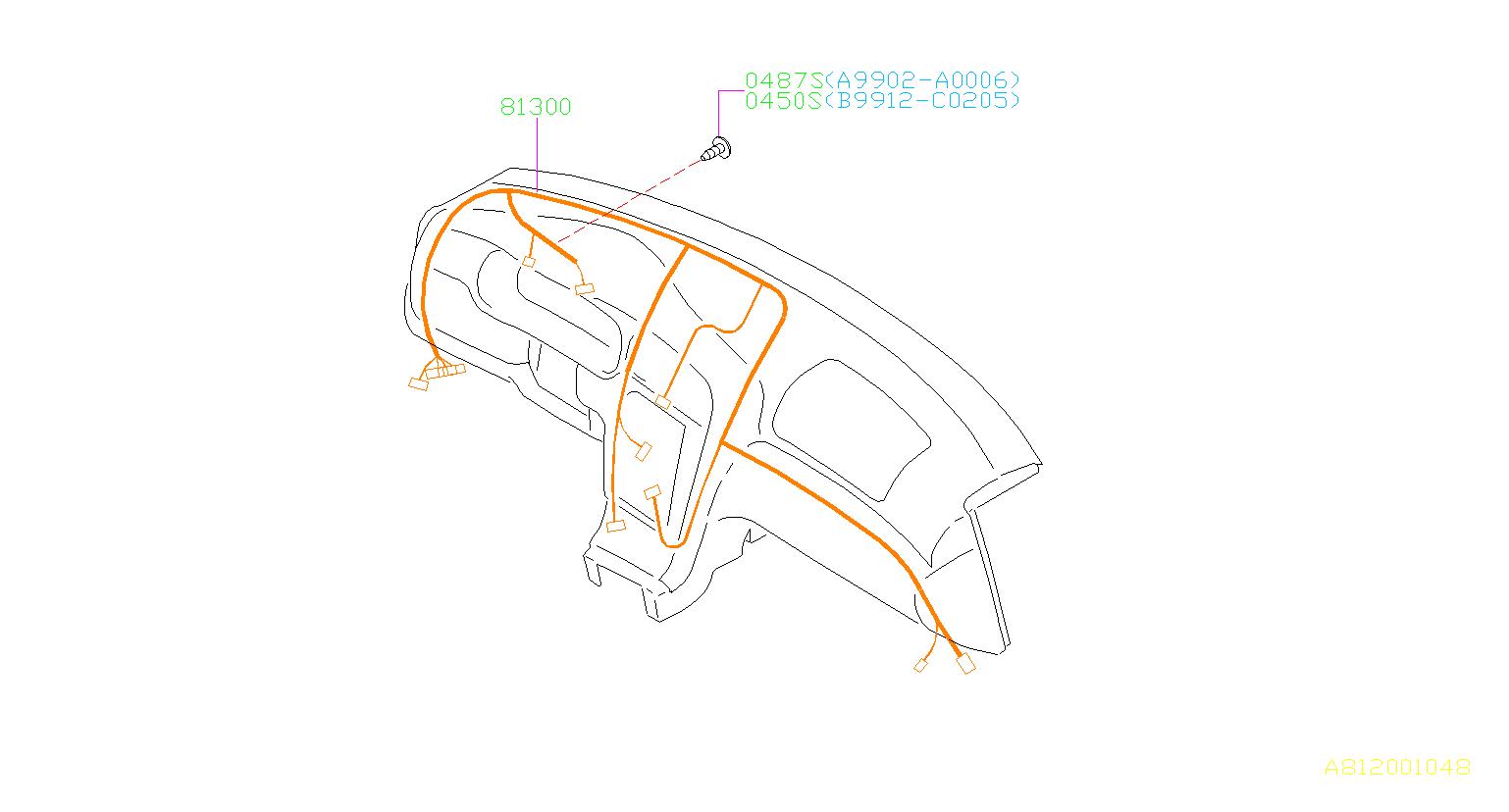 Subaru Baja Harness Instrument Panel Wiring