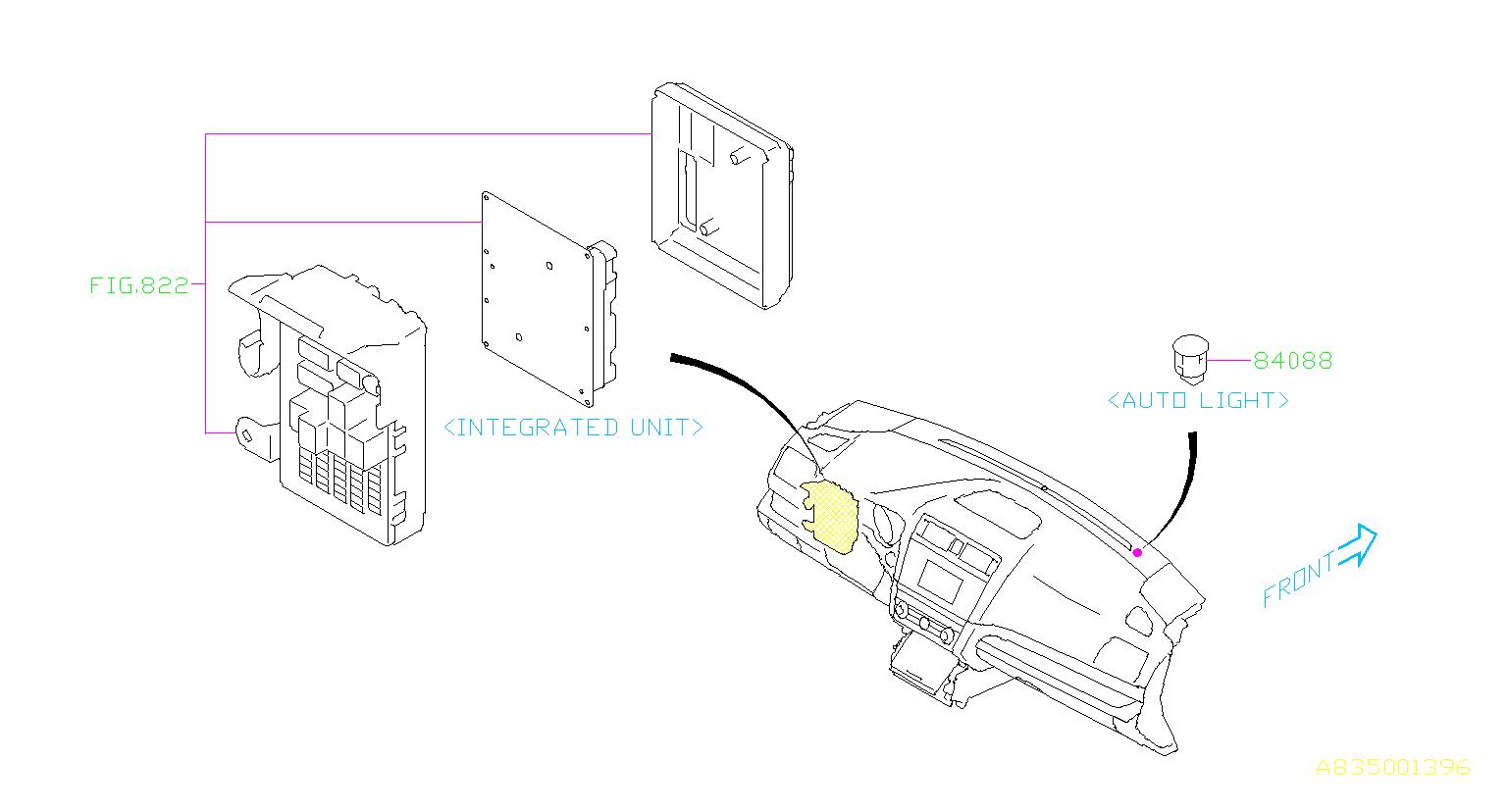 Subaru Legacy Automatic Light Sensor Electrical Panel