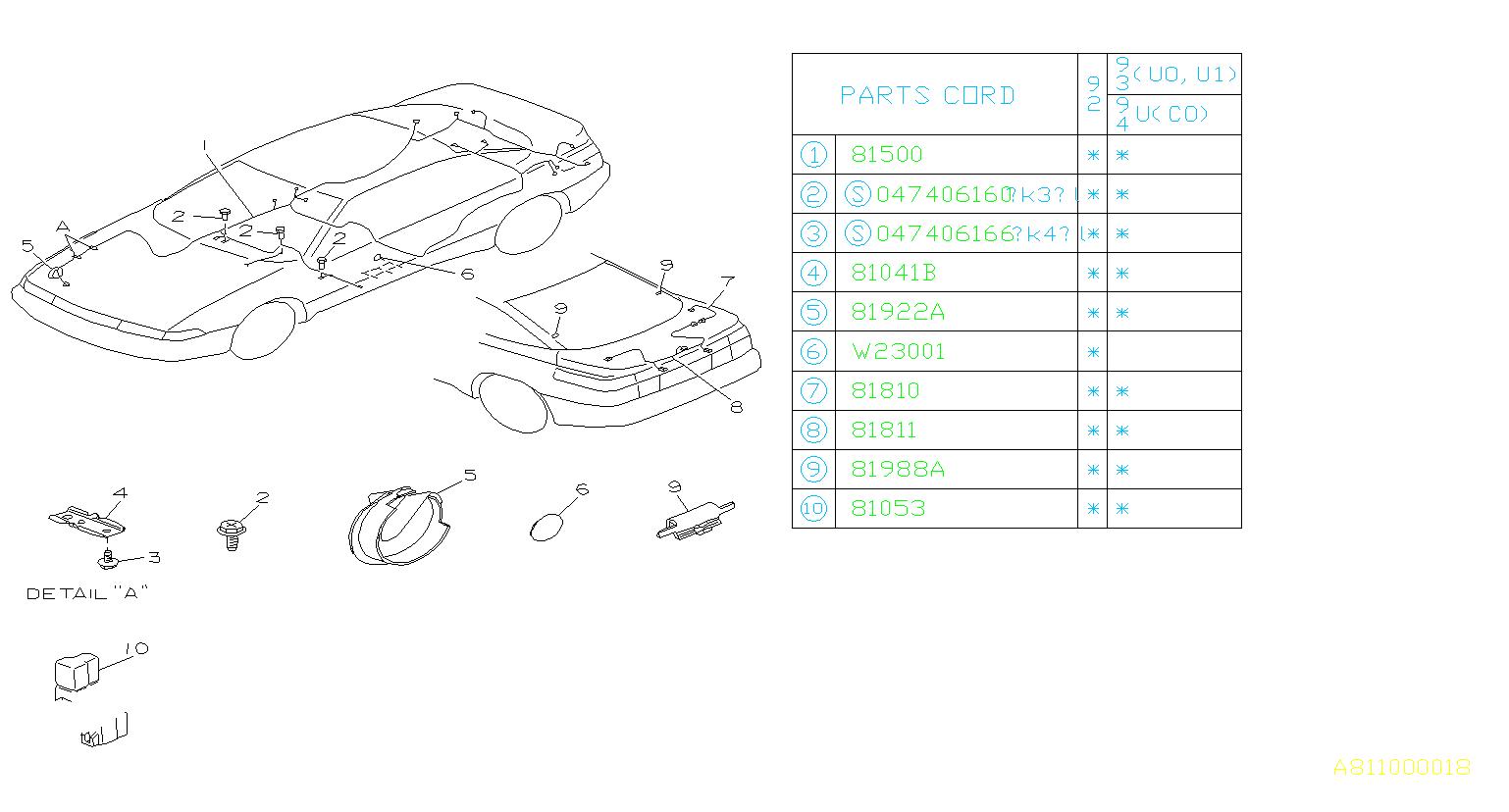 Subaru Svx Bracket Fender A Abs Harness Wiring Main