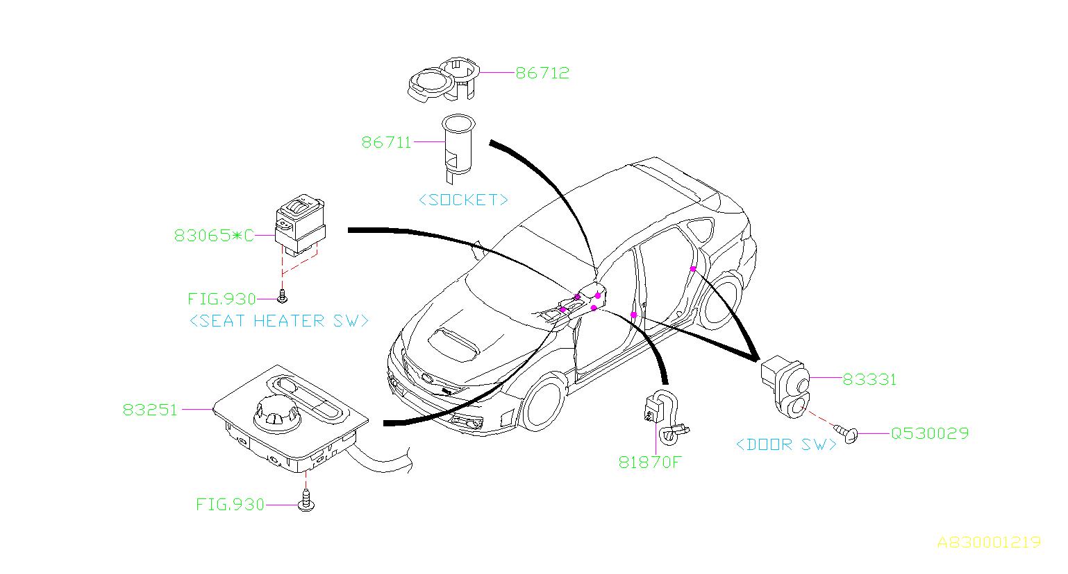 Subaru Sti Switch Assembly Multi Select