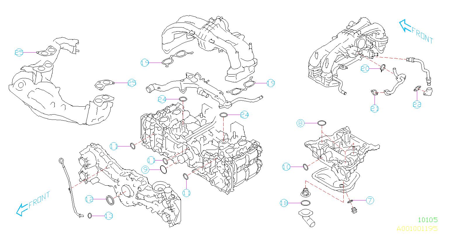 Subaru Impreza Gasket And Seal Kit Engine Assembly