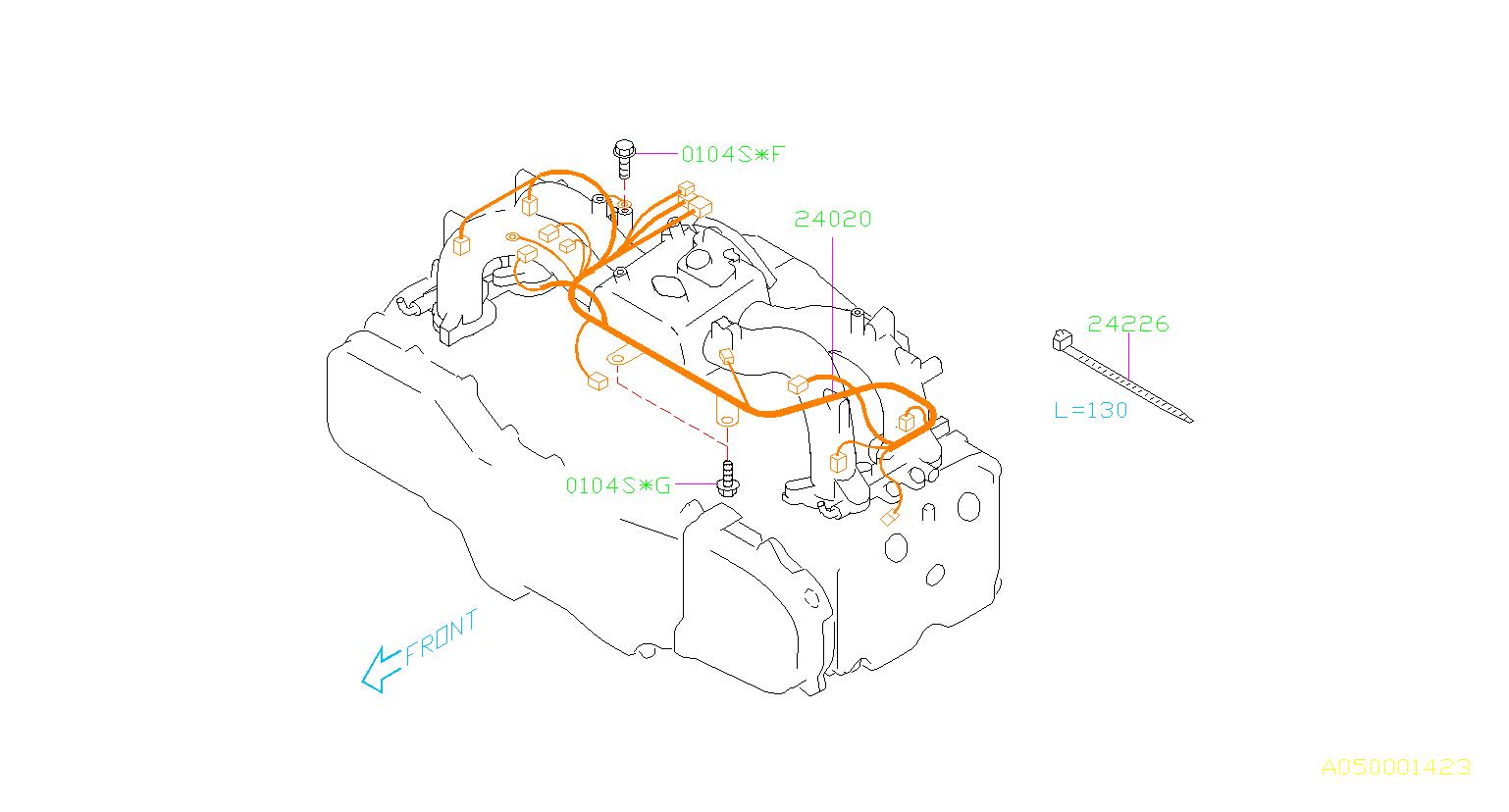 Subaru Forester Flange Bolt Manifold Intake Engine