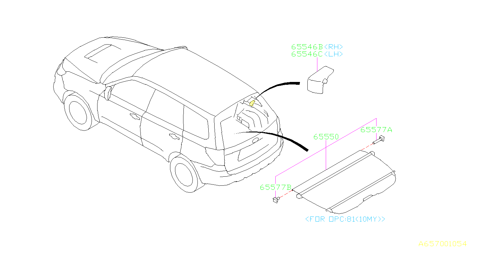 Subaru Forester Cap A Rear Quater Right Tonneau