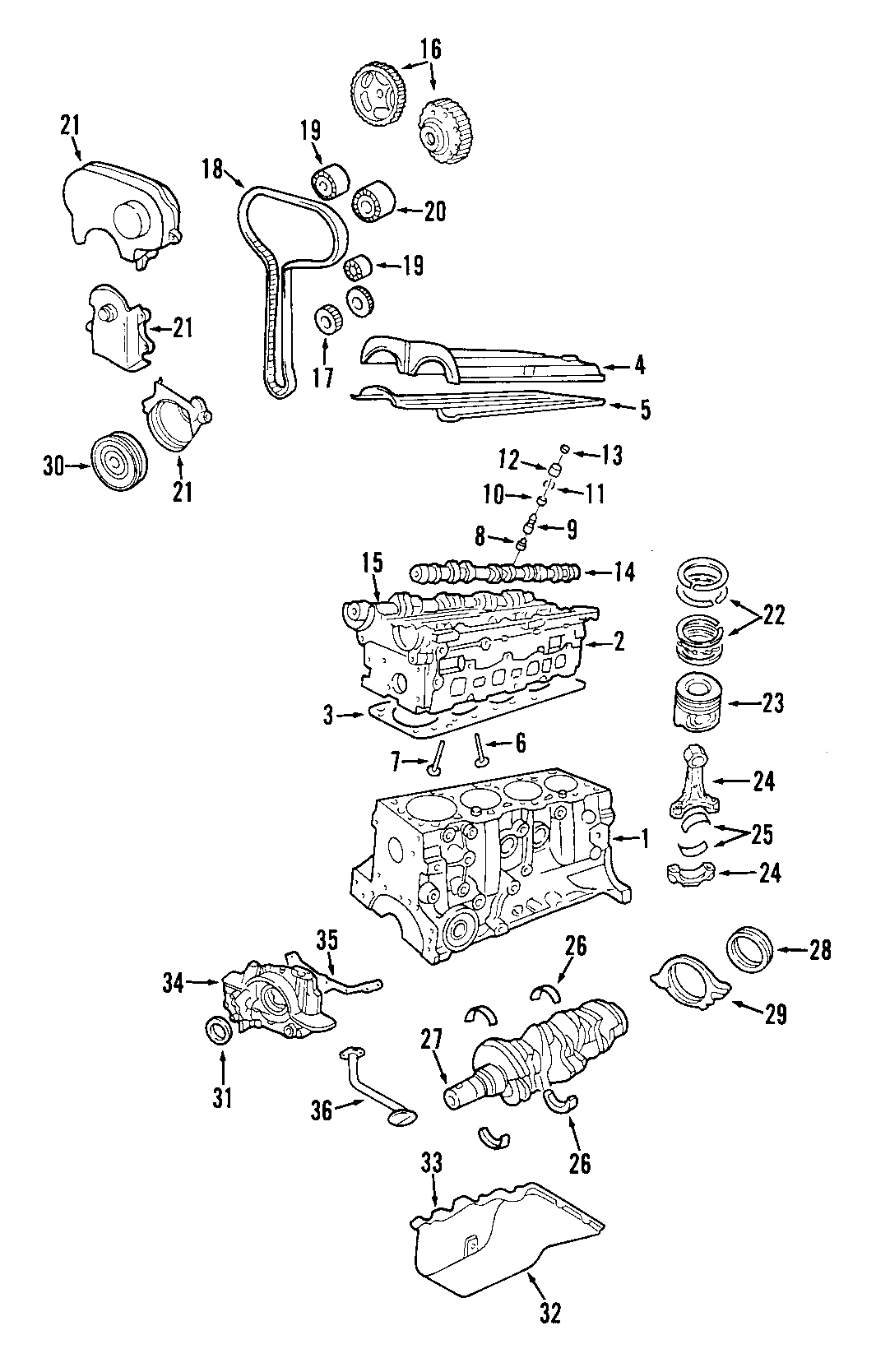 Ford Focus Engine Timing Cover Front Upper Svt