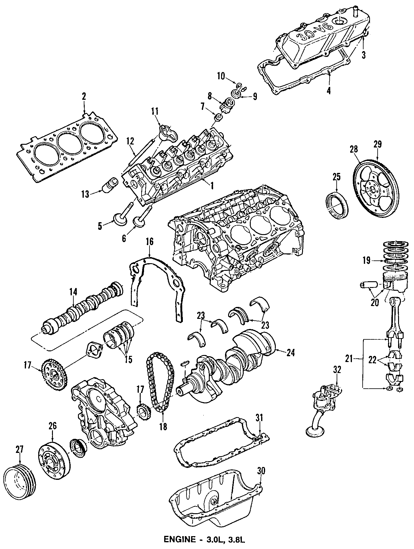 Ford Aerostar Timing Gear Engine Set