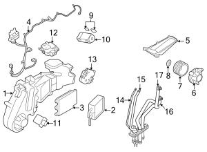 2009 Ford Taurus X Hvac heater core Radiator assembly